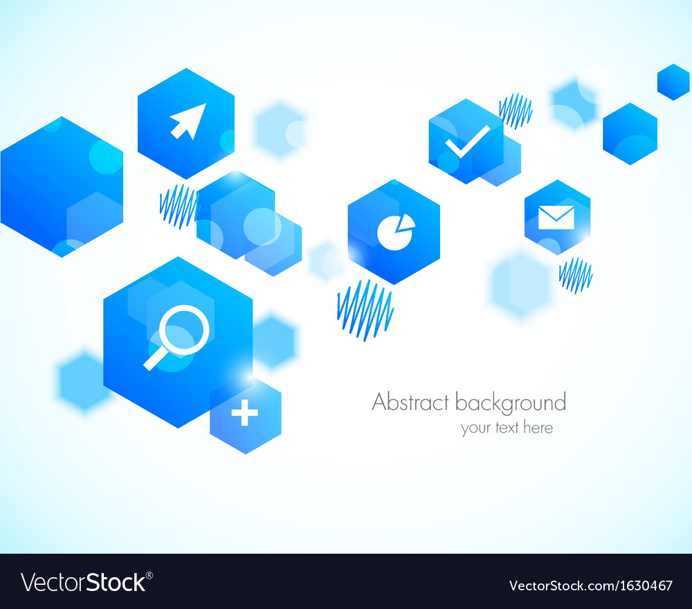 Abstract background with blue hexagons vector | Price: 1 Credit (USD $1)