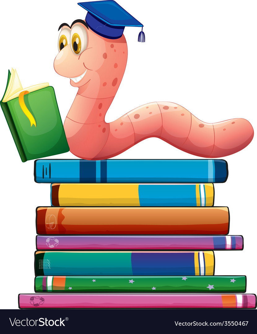 Book and worm vector | Price: 1 Credit (USD $1)