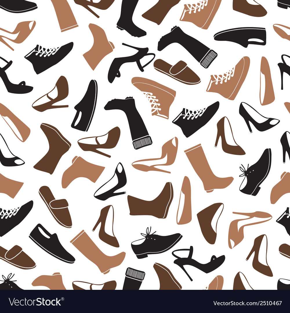Boots and shoes color seamless pattern eps10 vector | Price: 1 Credit (USD $1)