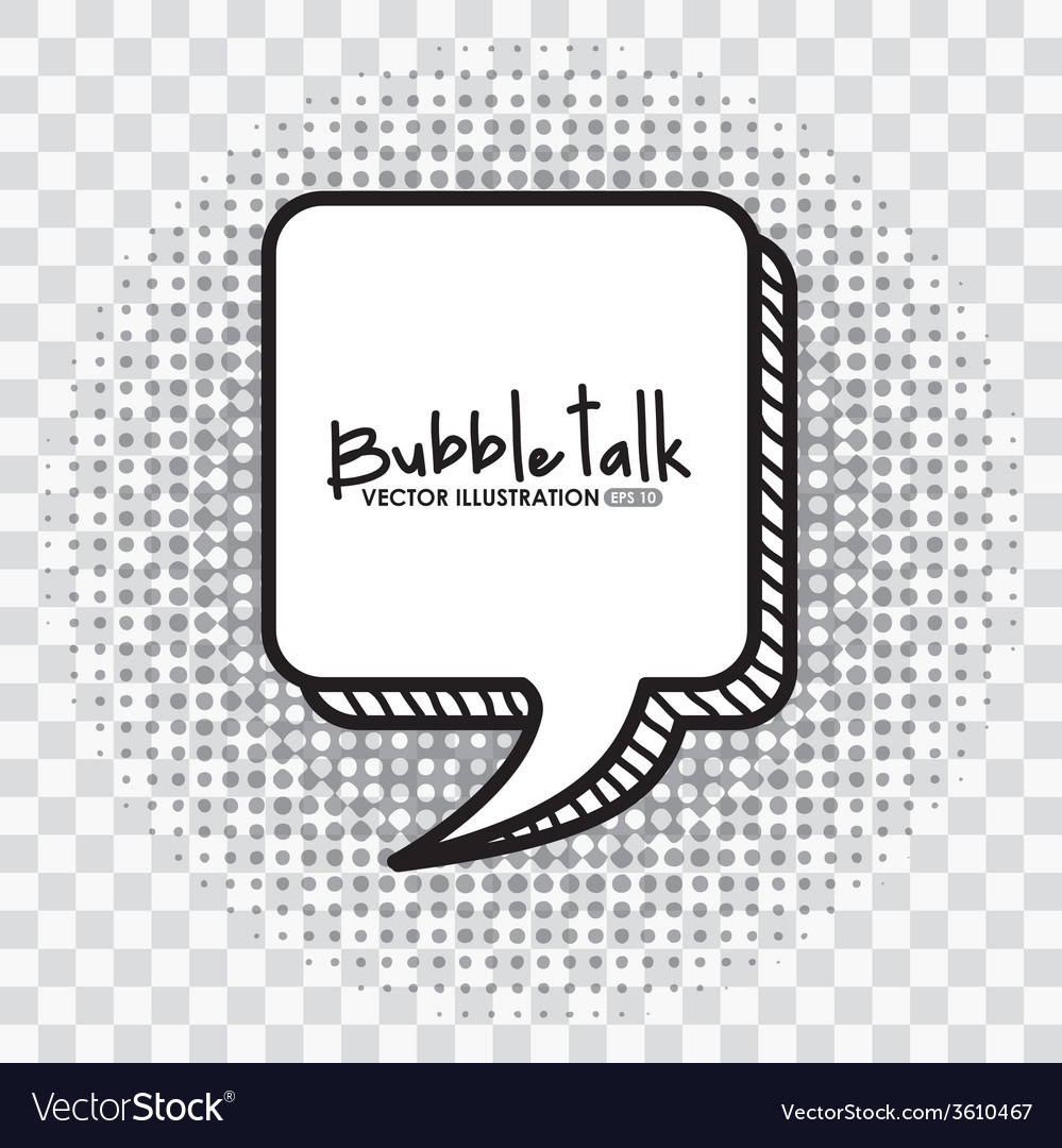 Bubble talk vector | Price: 1 Credit (USD $1)