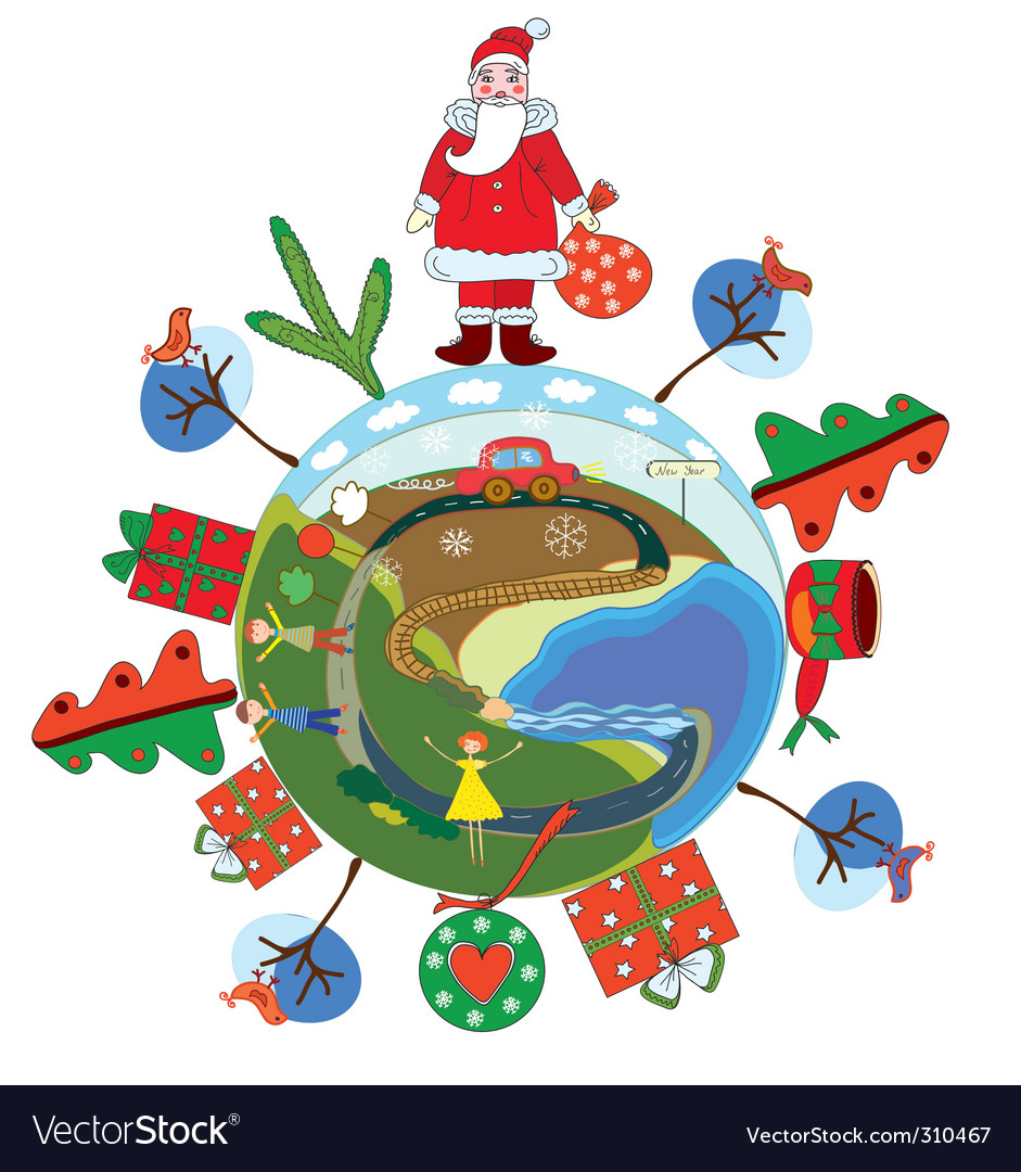 Christmas globe vector | Price: 1 Credit (USD $1)