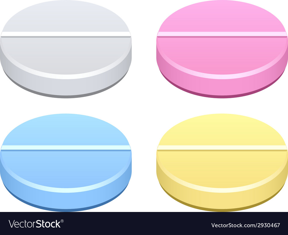 Colored tablets vector | Price: 1 Credit (USD $1)