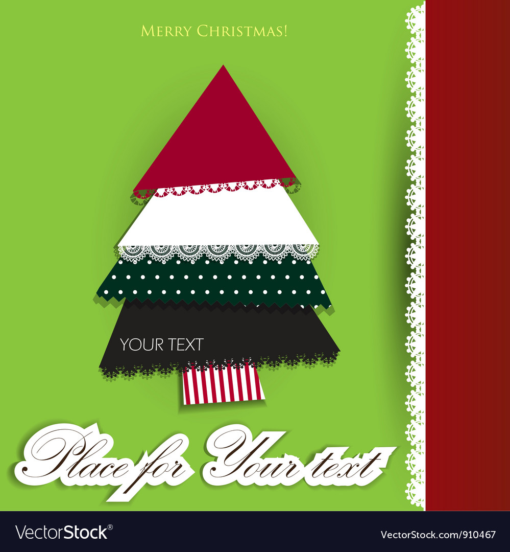 Creative christmas tree made from pieces of vector | Price: 1 Credit (USD $1)