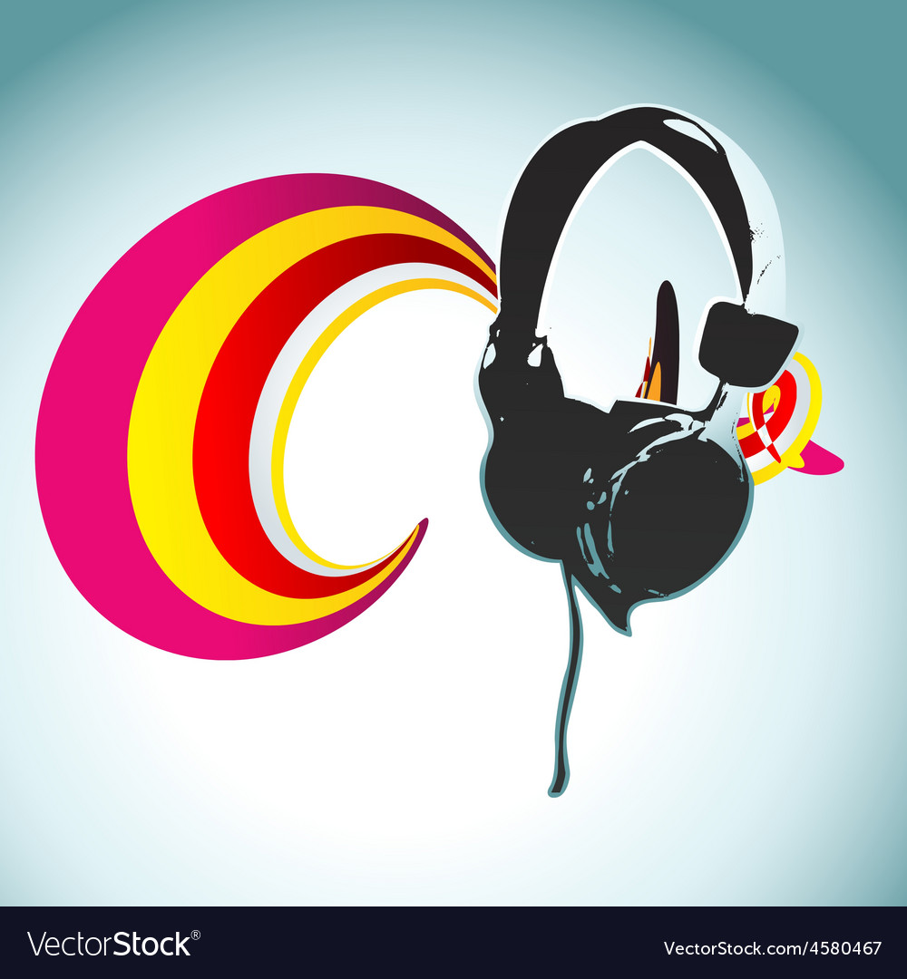 Headphone design vector | Price: 1 Credit (USD $1)