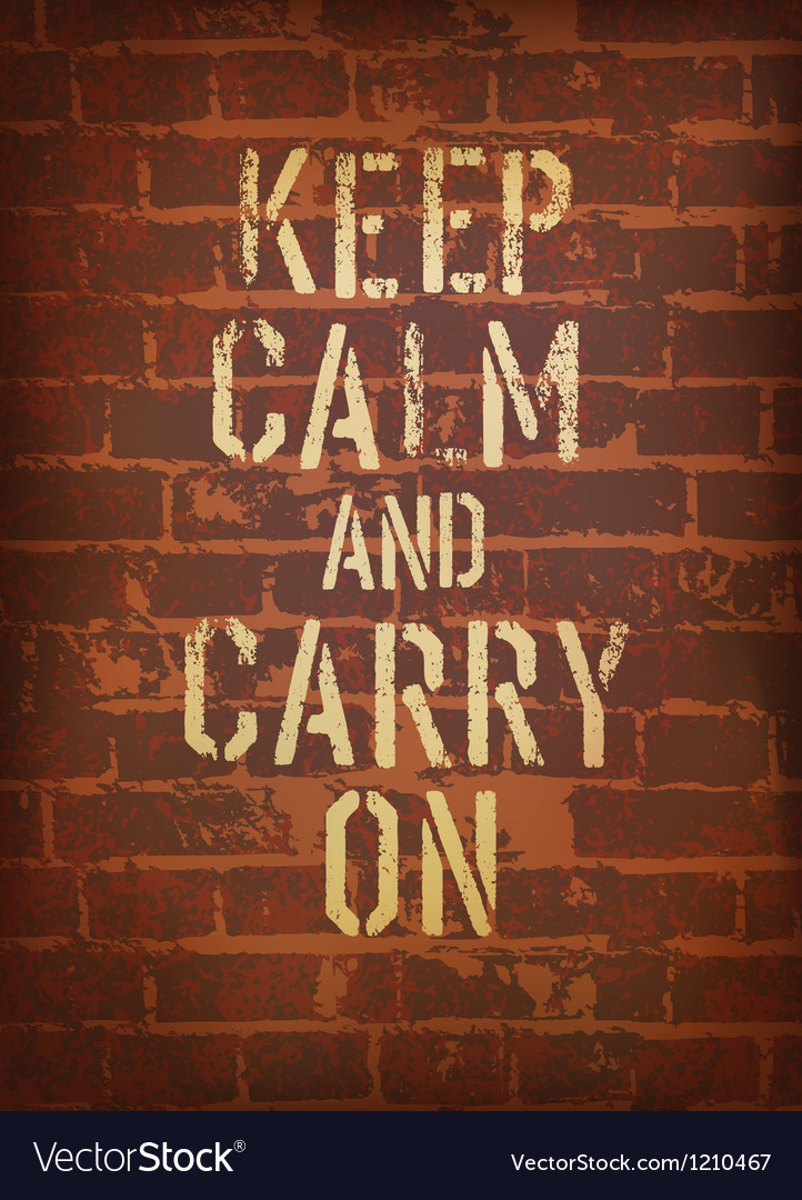 Keep calm brick wall vector | Price: 1 Credit (USD $1)