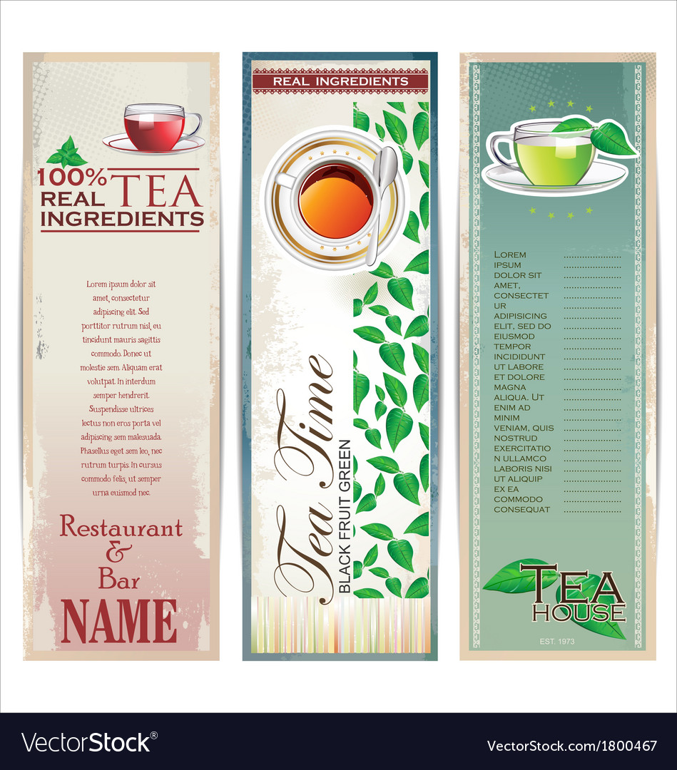 Menu for restaurant cafe bar coffeehouse tea house vector | Price: 1 Credit (USD $1)