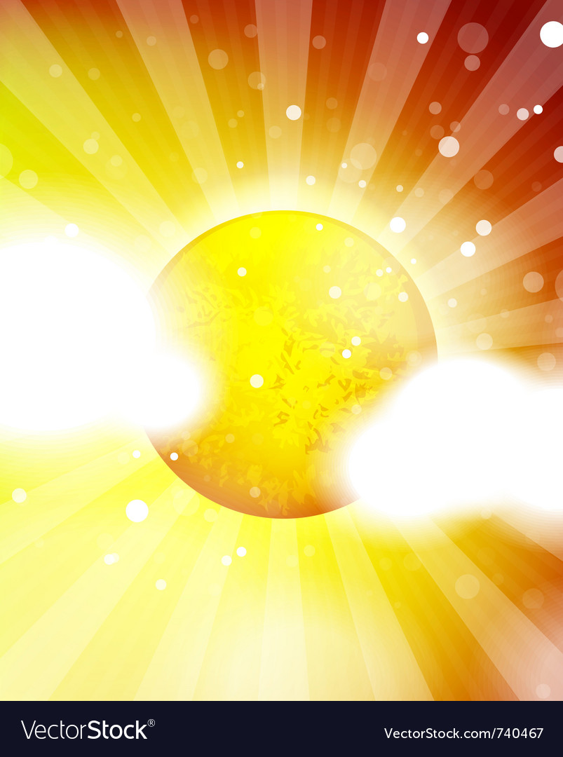 Orange shiny sun background vector | Price: 1 Credit (USD $1)