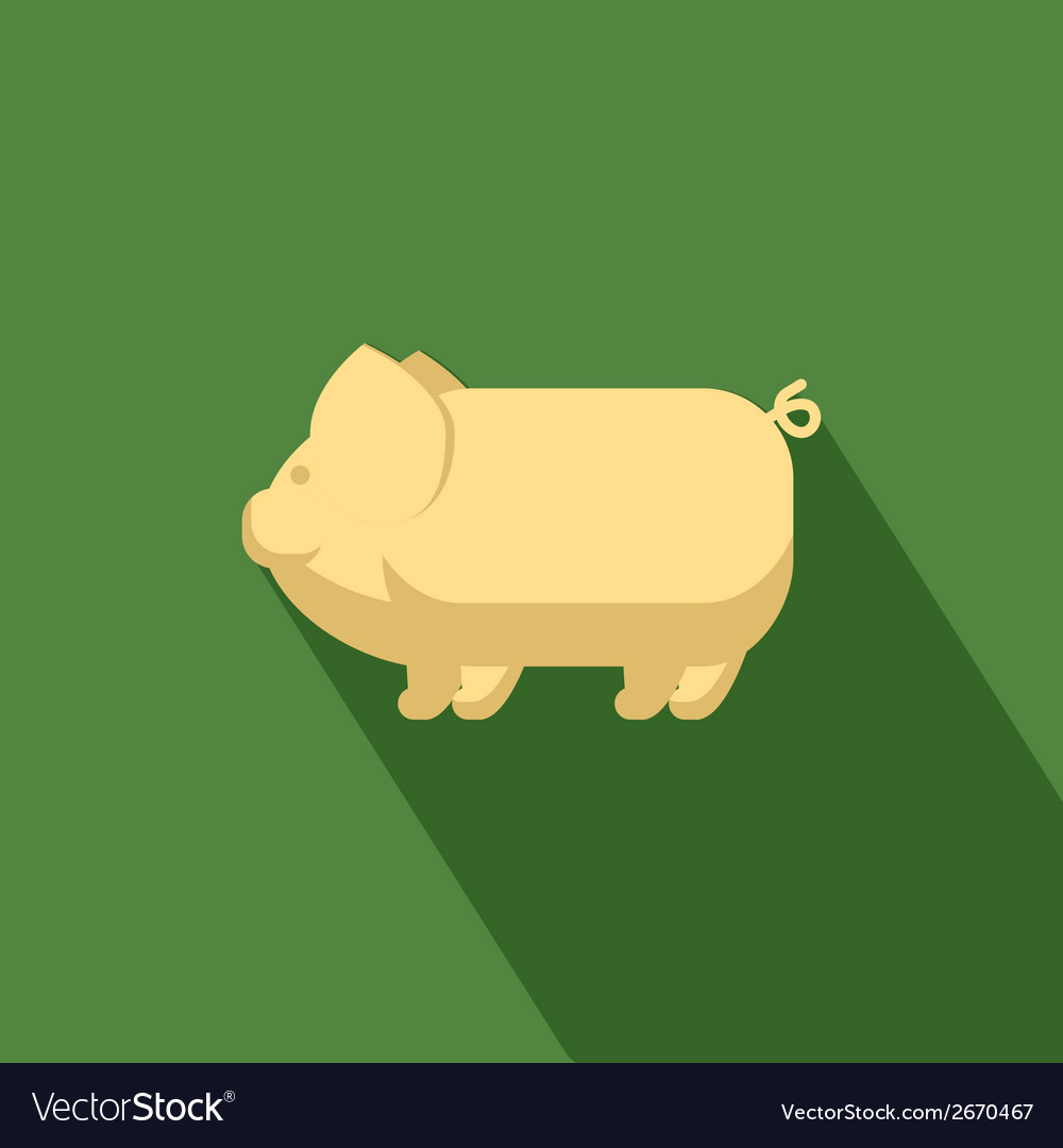 Pig icon vector | Price: 1 Credit (USD $1)
