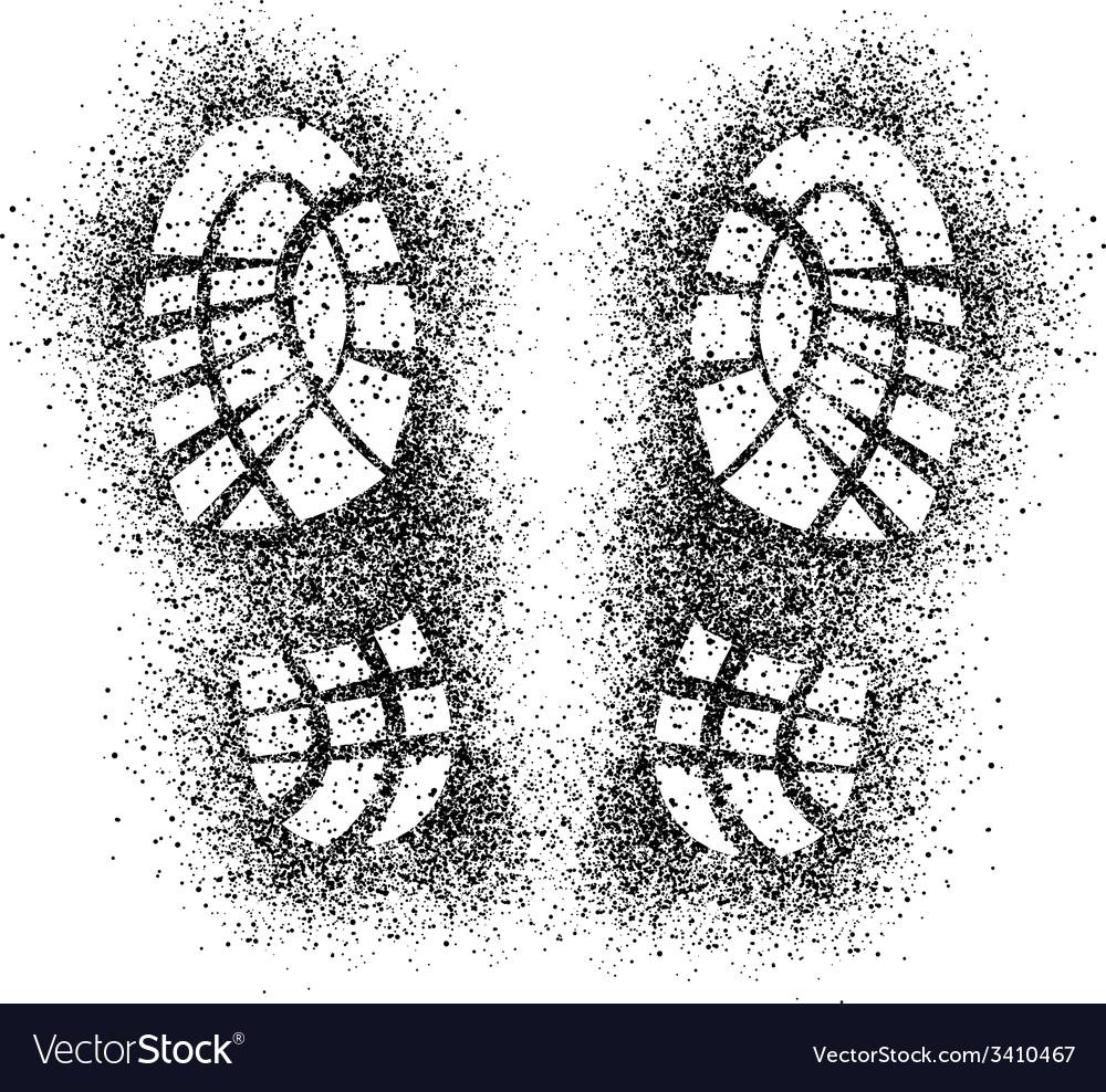 Spray shoe imprints vector | Price: 1 Credit (USD $1)