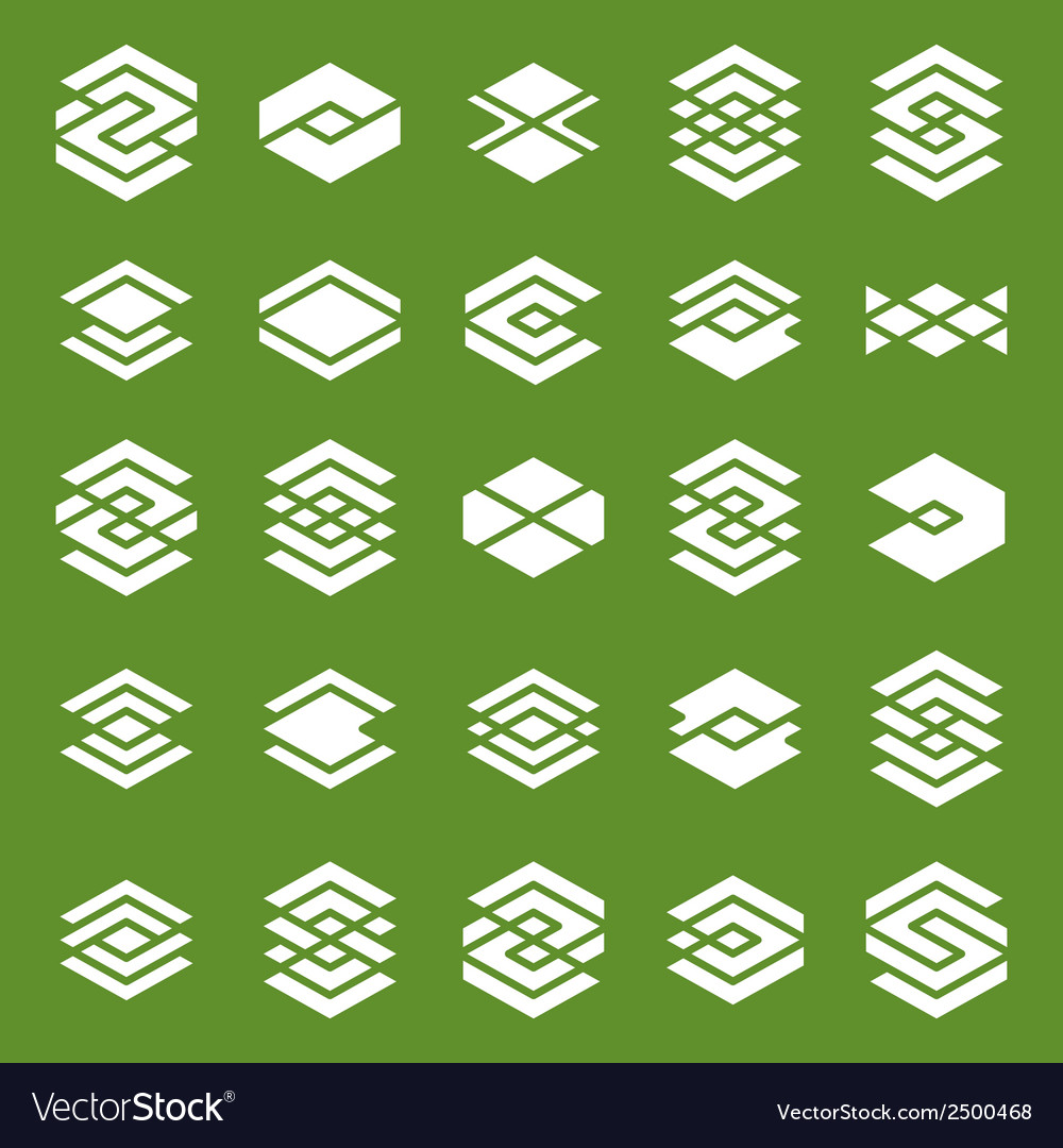 Abstract creative design elements collection vector | Price: 1 Credit (USD $1)