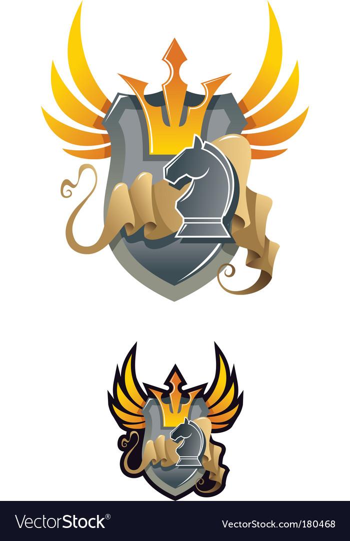 Chess heraldic emblem vector   Price: 1 Credit (USD $1)