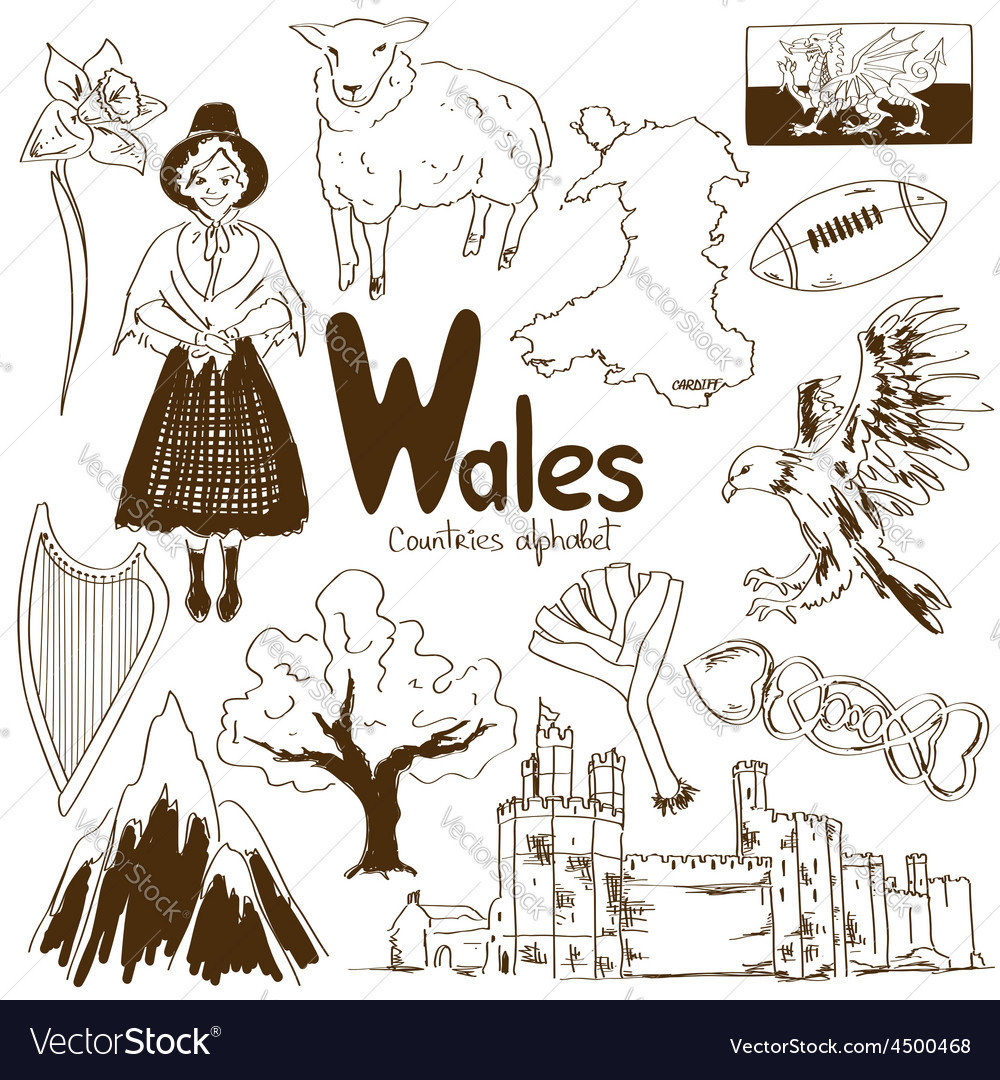 Collection of wales icons vector | Price: 1 Credit (USD $1)