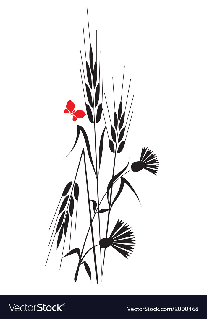 Flowers and ears vector | Price: 1 Credit (USD $1)