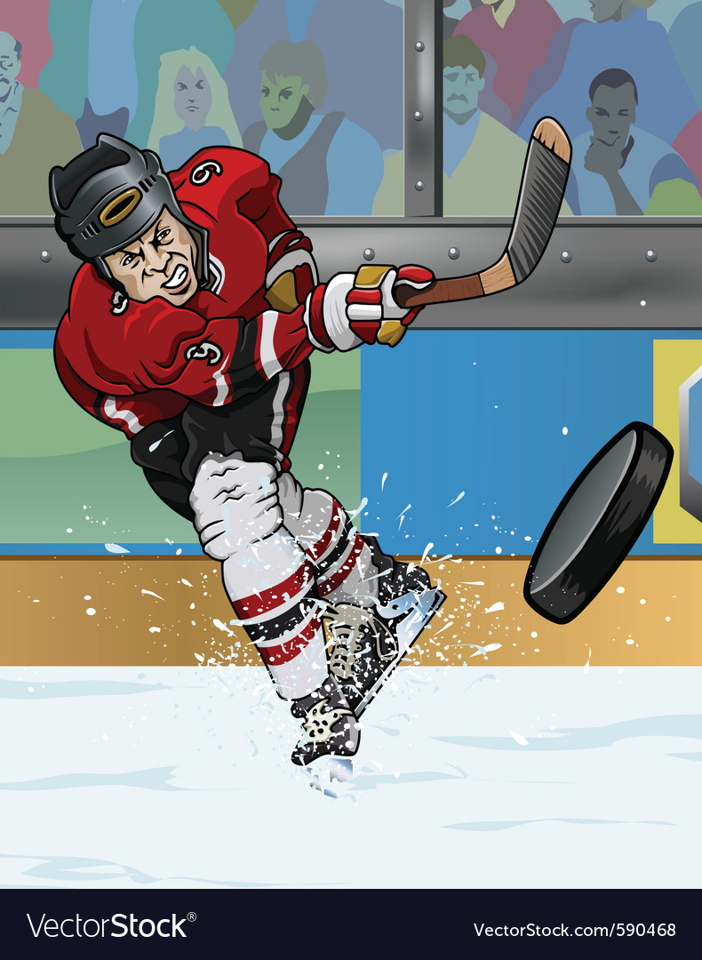 Ice hockey player vector | Price: 3 Credit (USD $3)