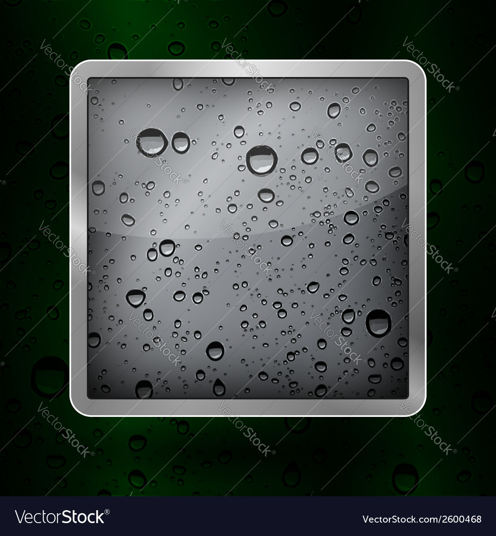 Icon water in an aluminum frame vector | Price: 1 Credit (USD $1)