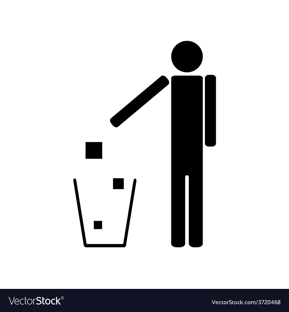 People throwing trash ecology vector | Price: 1 Credit (USD $1)