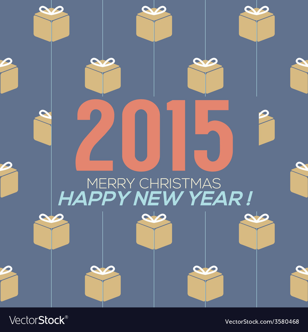 Simply and clean 2015 new year card vector | Price: 1 Credit (USD $1)