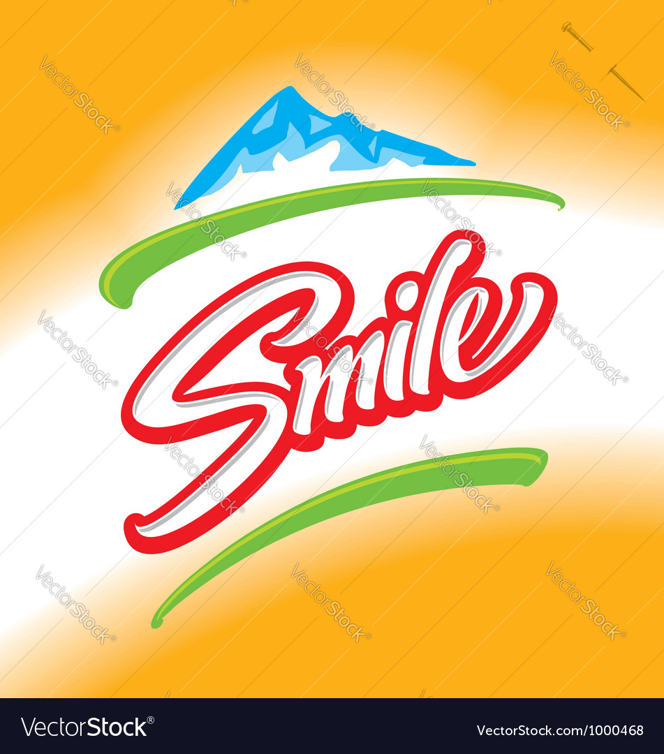 Smile hand lettering vector | Price: 1 Credit (USD $1)