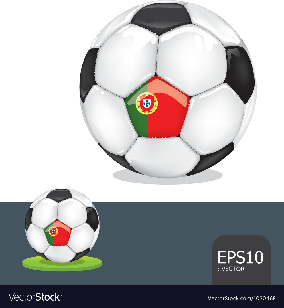 Soccer ball portugal euro flag vector | Price: 1 Credit (USD $1)