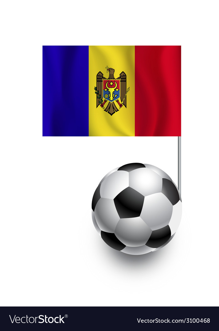Soccer balls or footballs with flag of moldova vector | Price: 1 Credit (USD $1)