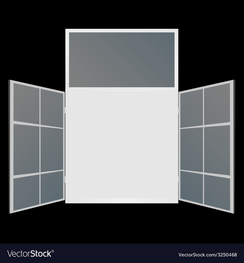 Window on black background vector | Price: 1 Credit (USD $1)