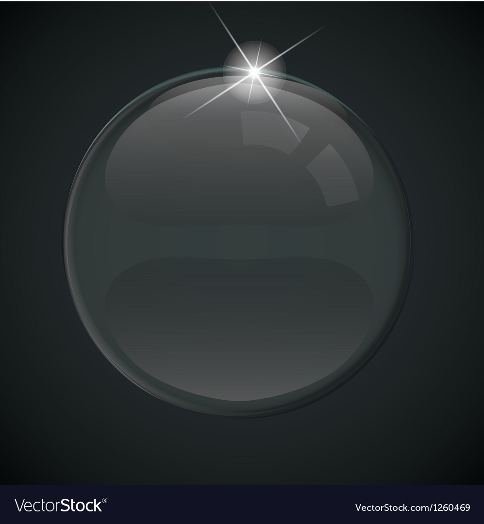 Black soap bubble on background vector   Price: 1 Credit (USD $1)