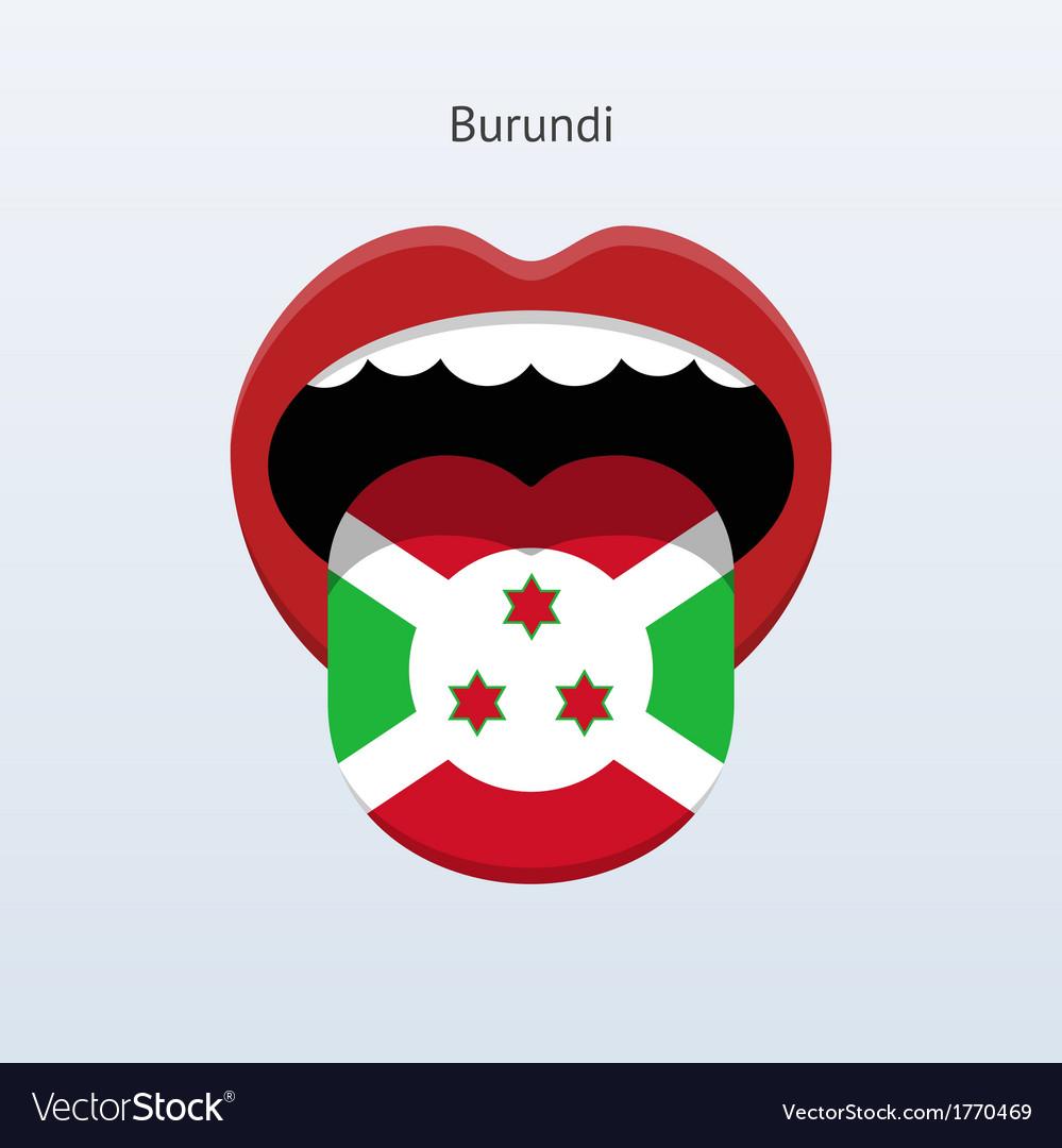 Burundi language abstract human tongue vector | Price: 1 Credit (USD $1)