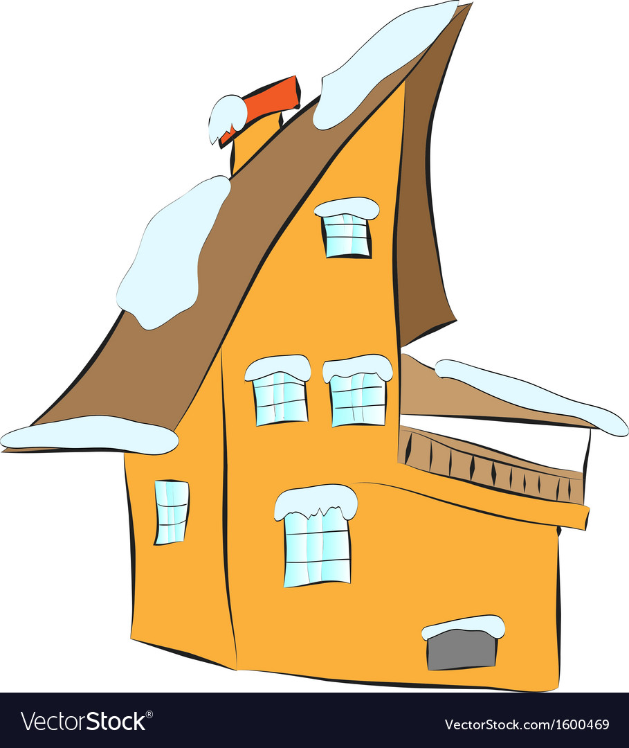 Cozy house in the snow vector | Price: 1 Credit (USD $1)