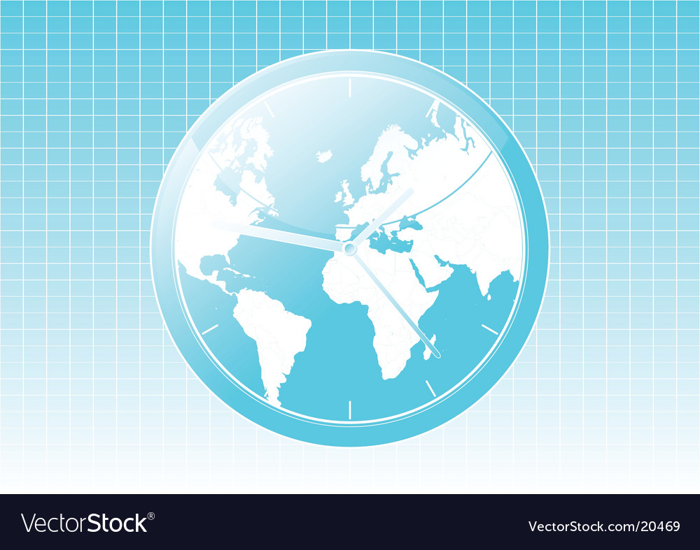 Global clock background vector | Price: 1 Credit (USD $1)