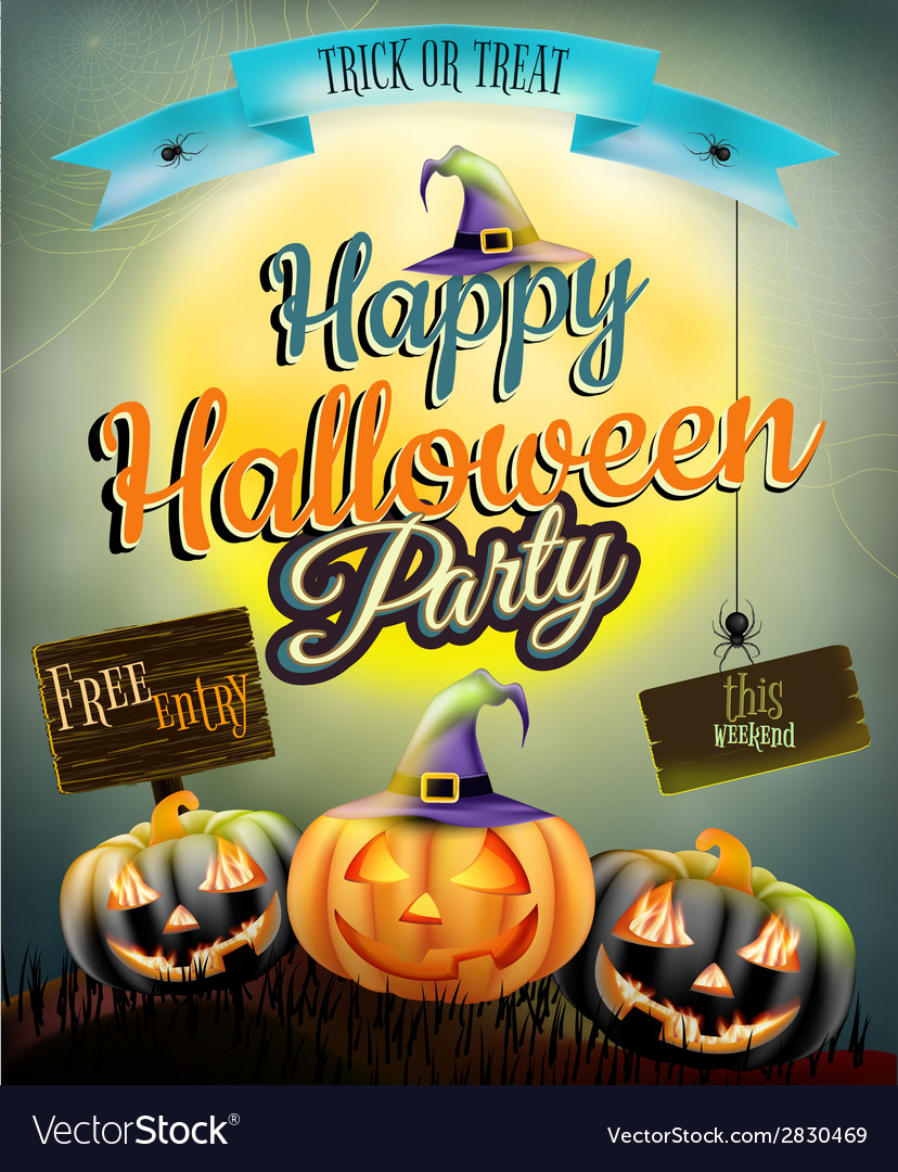 Halloween poster for holiday eps 10 vector | Price: 3 Credit (USD $3)