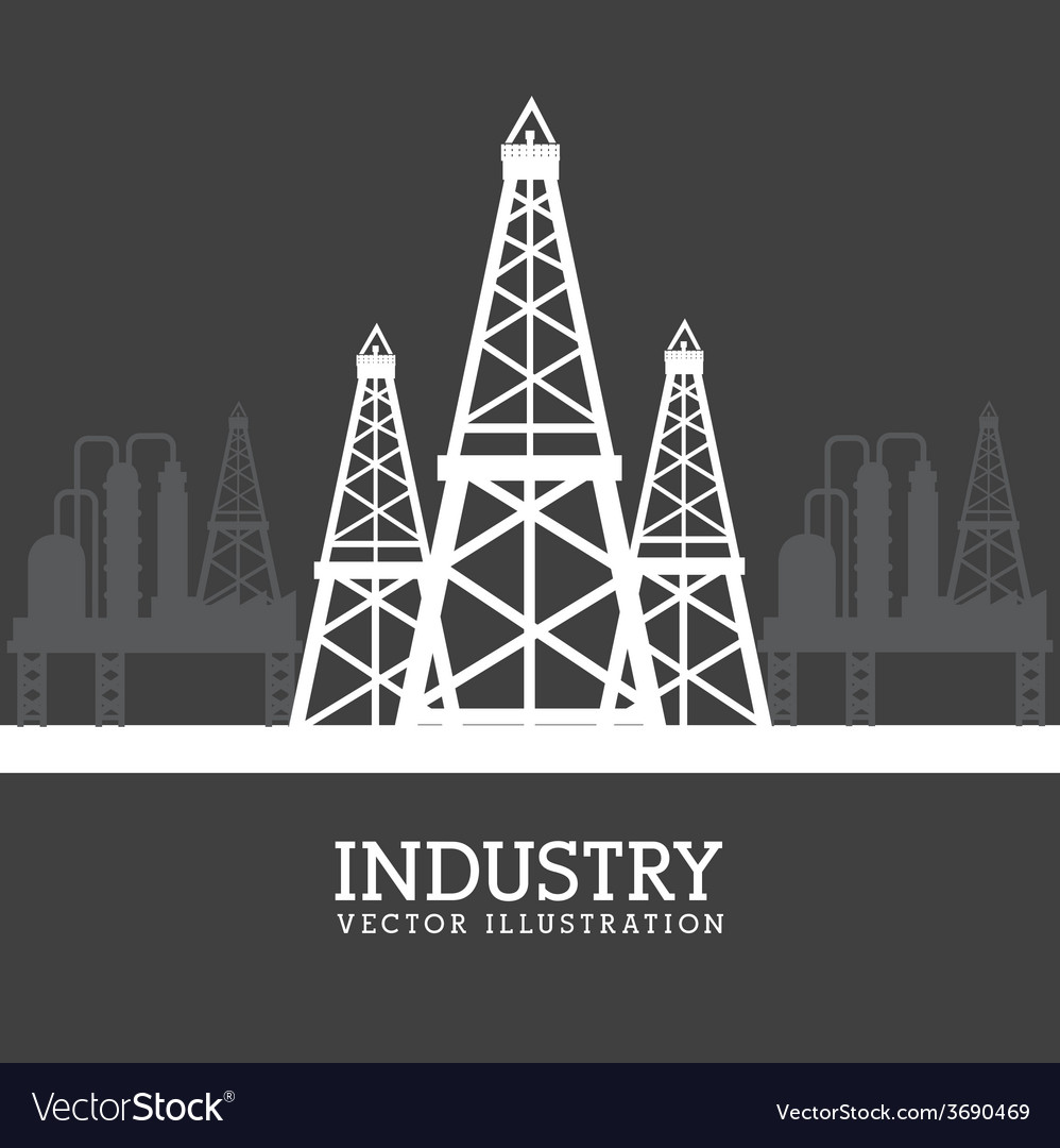 Industry design over gray background vector | Price: 1 Credit (USD $1)