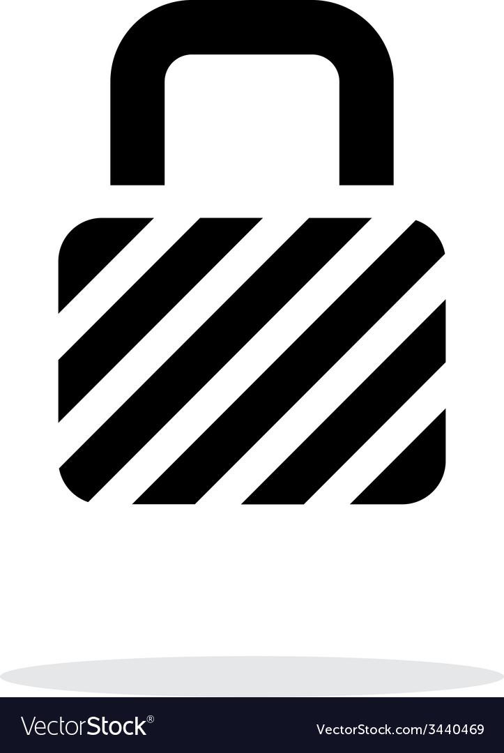 Padlock icon on white background vector | Price: 1 Credit (USD $1)