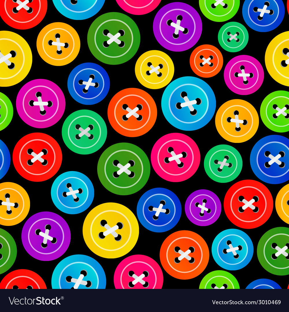Seamless pattern with colored buttons vector | Price: 1 Credit (USD $1)
