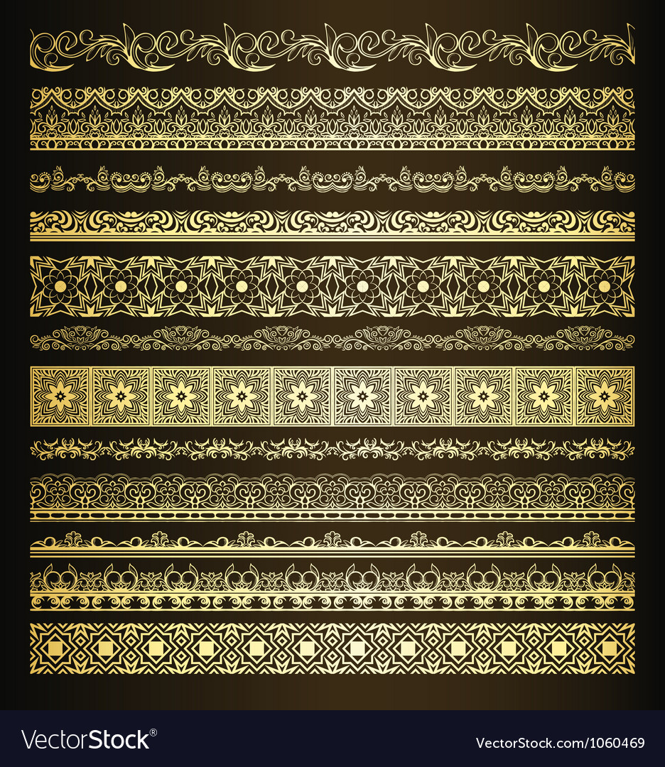 Set of borders vector | Price: 1 Credit (USD $1)