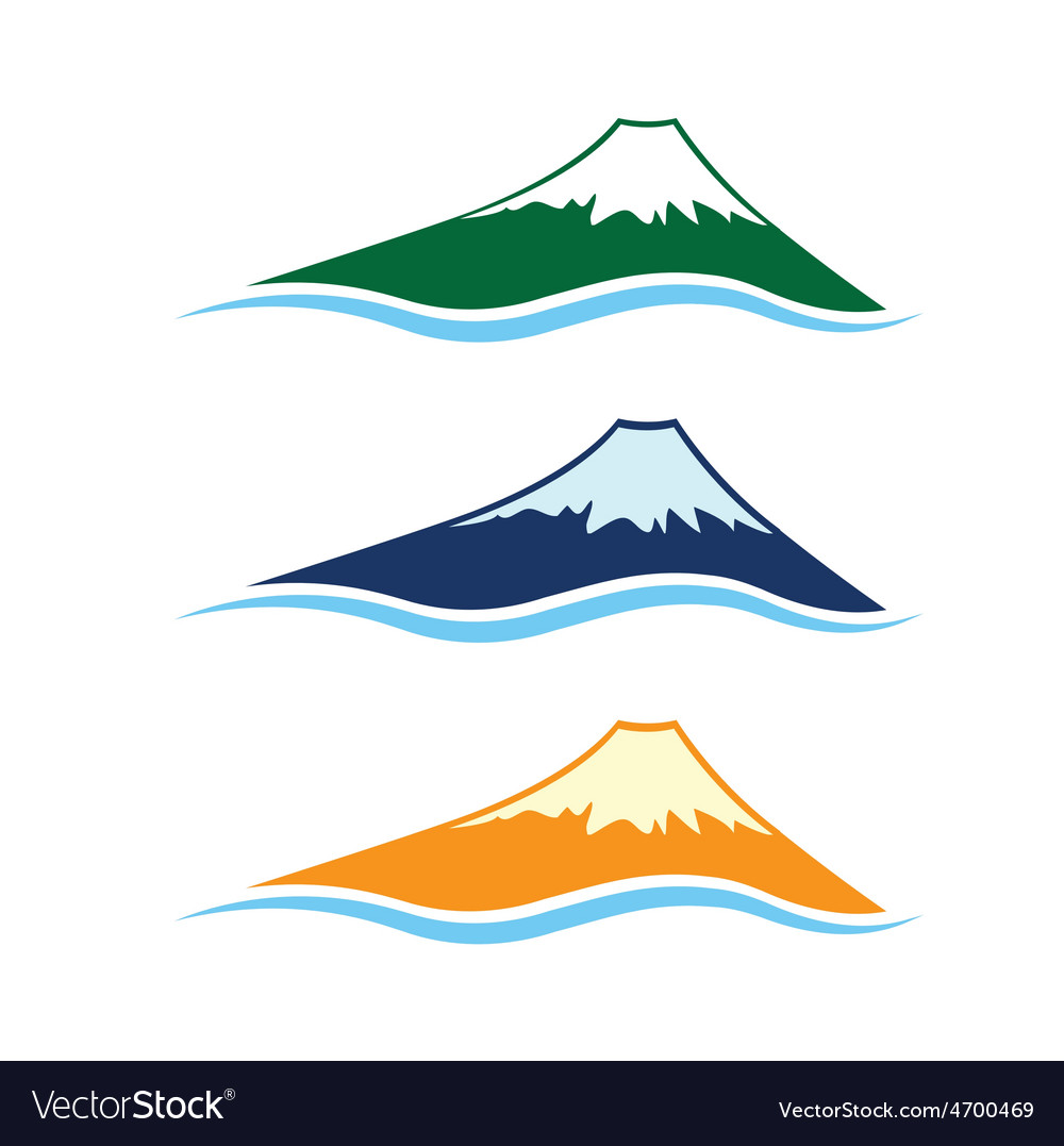 Set of high mountains vector | Price: 1 Credit (USD $1)