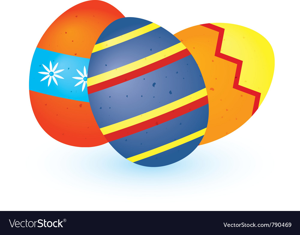 Three easter eggs vector   Price: 1 Credit (USD $1)