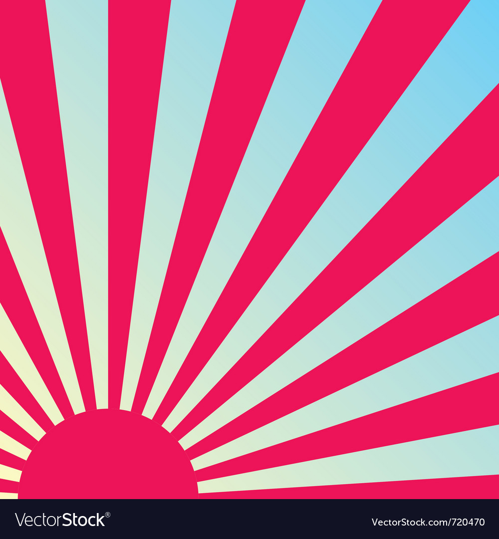 Abstract sunrise background vector | Price: 1 Credit (USD $1)