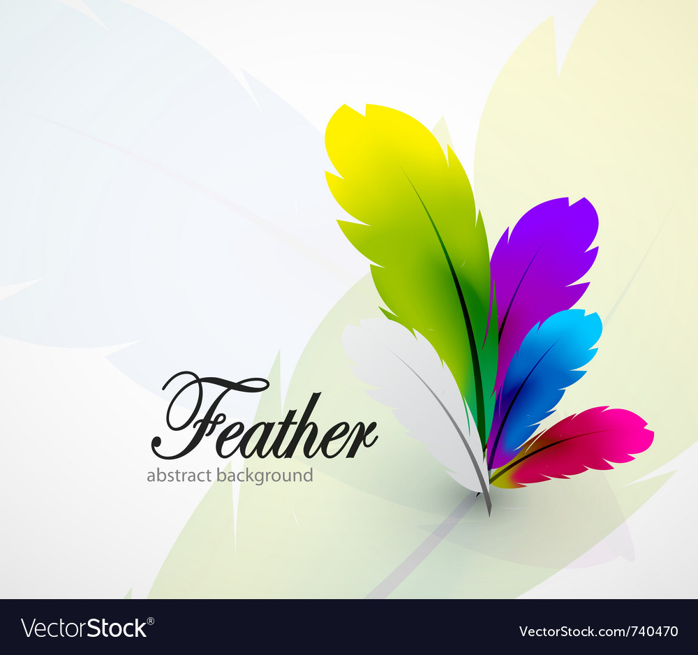 Color feathers abstract background vector | Price: 3 Credit (USD $3)