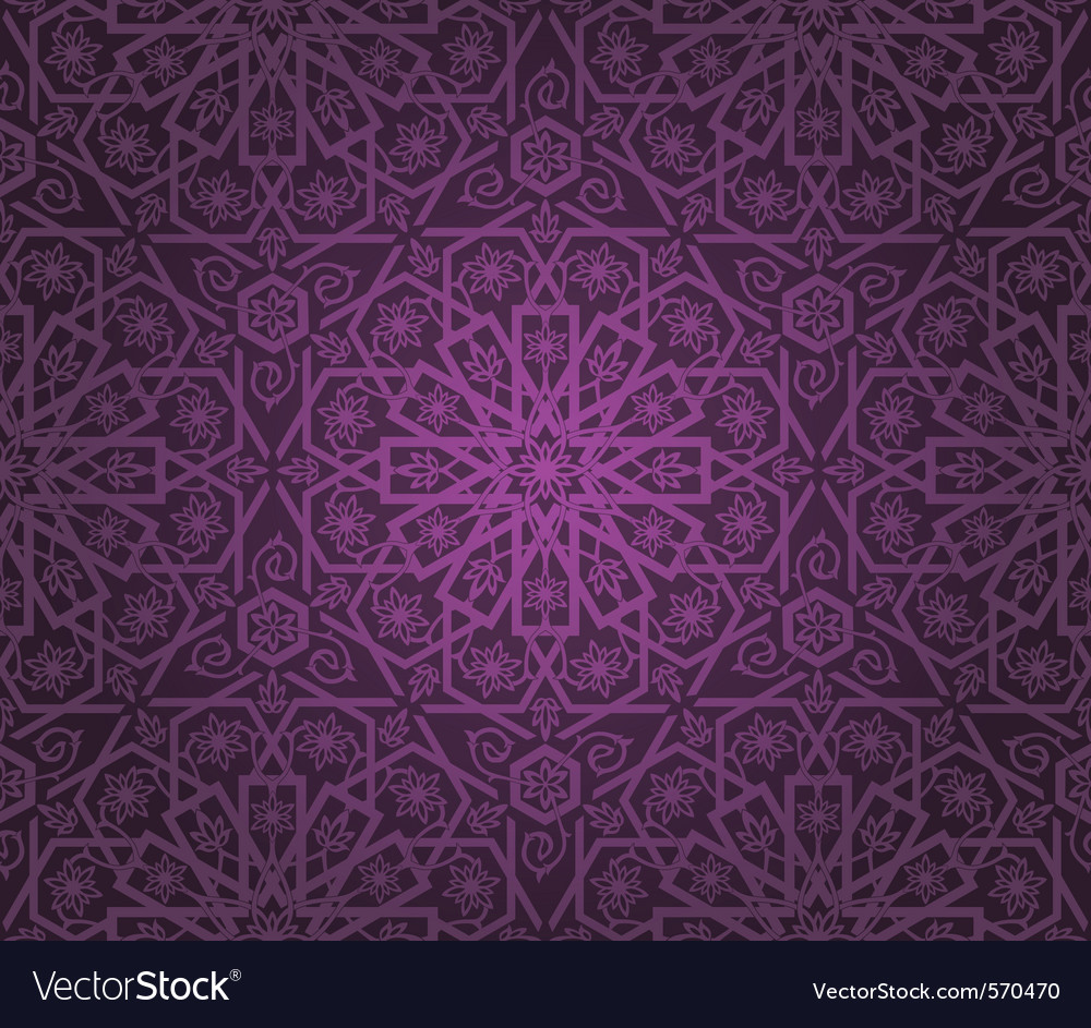 Decorative seamless pattern vector