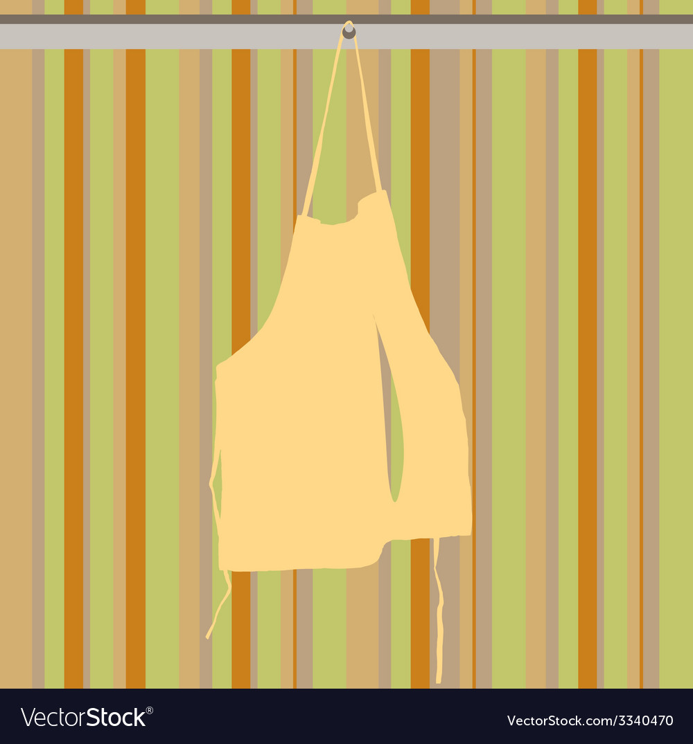 Hanging apron vector | Price: 1 Credit (USD $1)