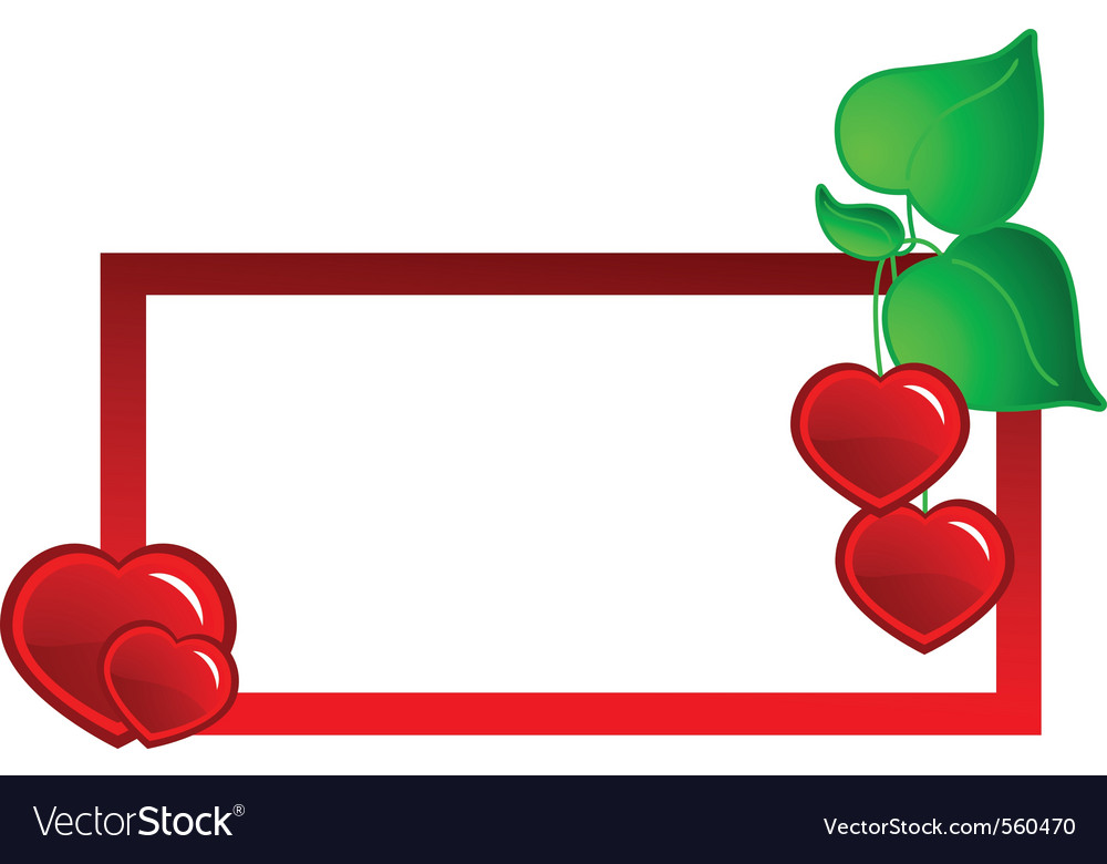 Heart banner vector | Price: 1 Credit (USD $1)
