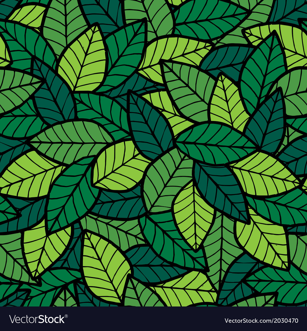 Leafs seamless pattern spring vector | Price: 1 Credit (USD $1)