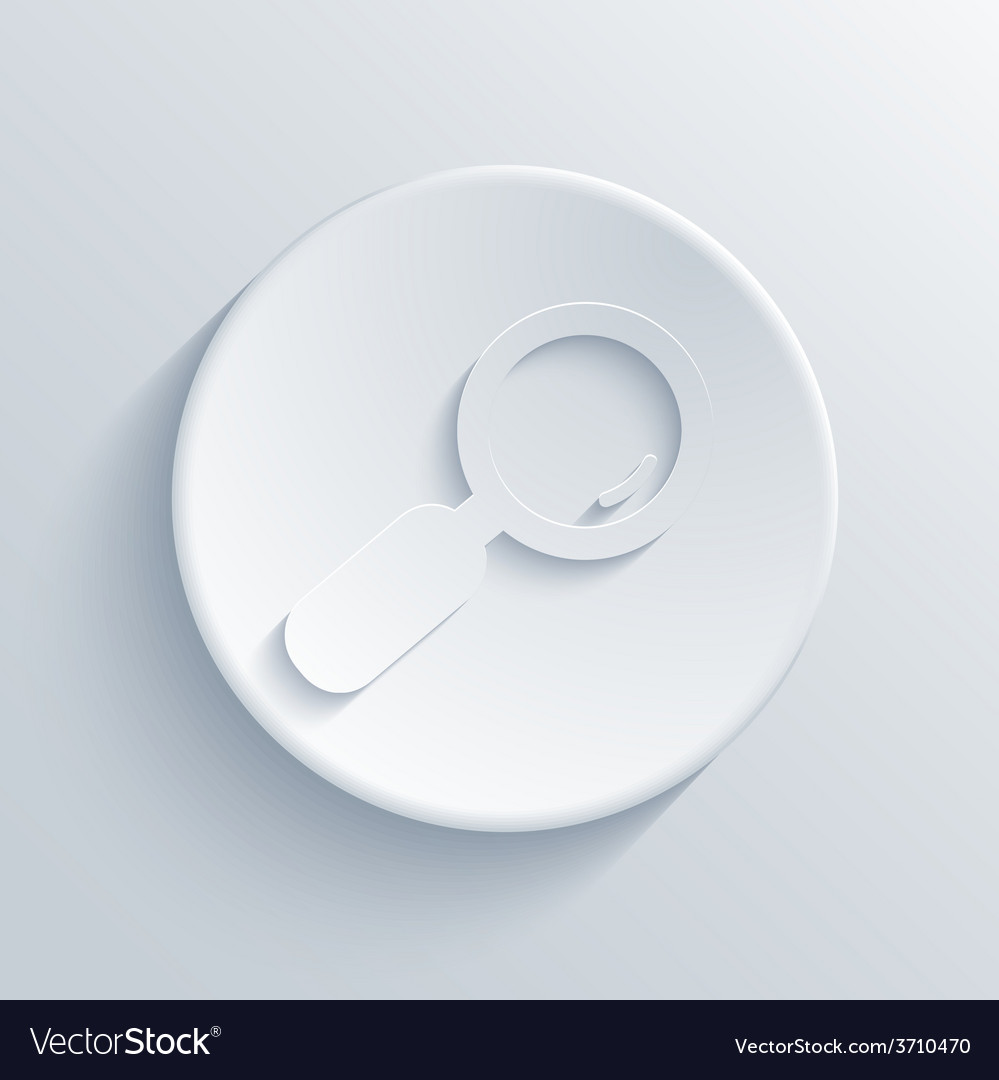Modern magnifying glass light circle icon vector | Price: 1 Credit (USD $1)