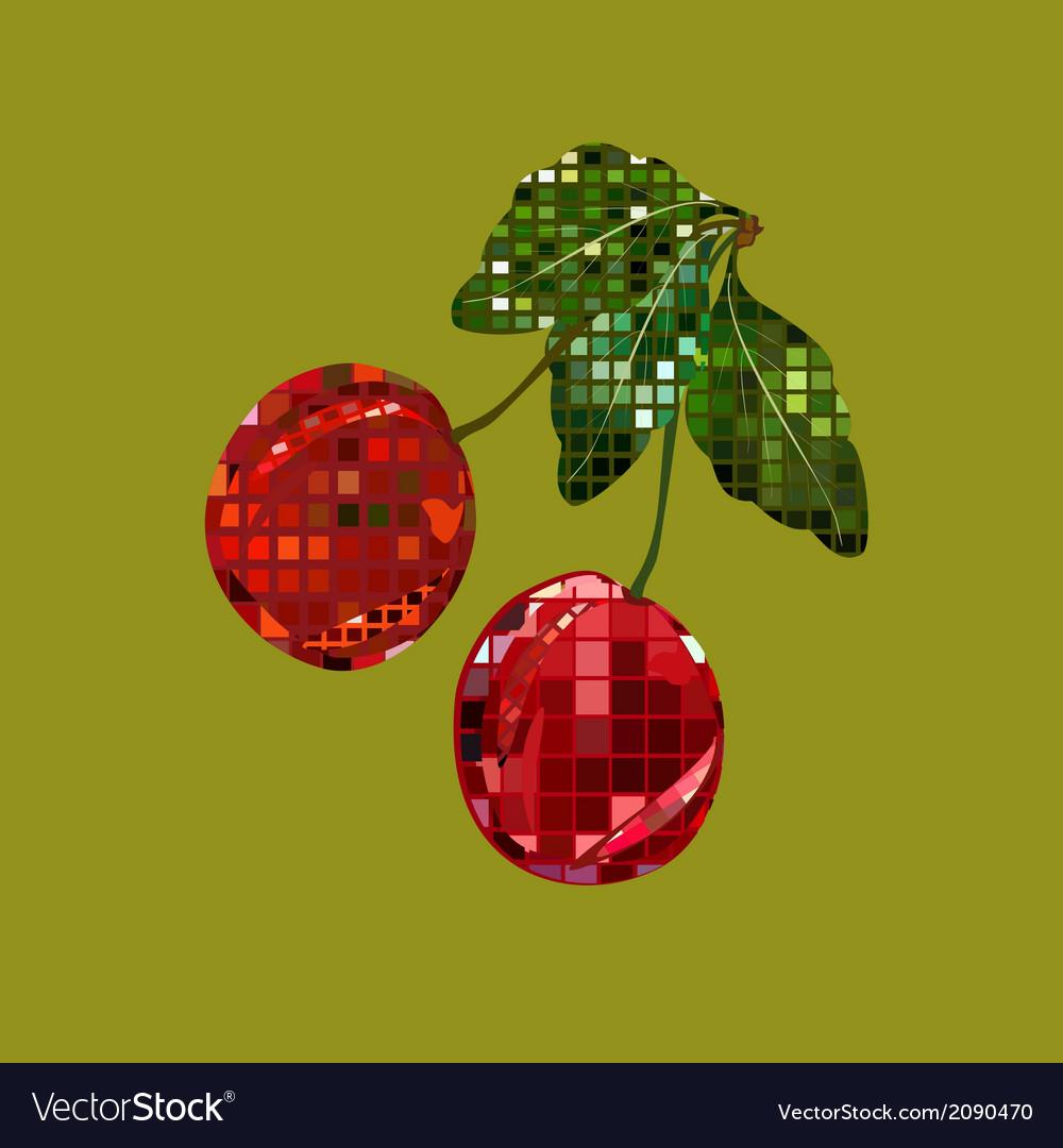 Mosaic cherry vector   Price: 1 Credit (USD $1)