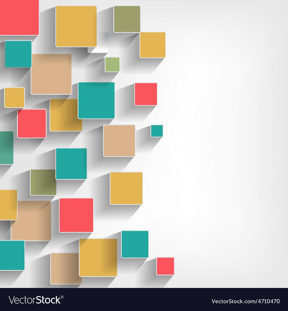 Squares retro vector