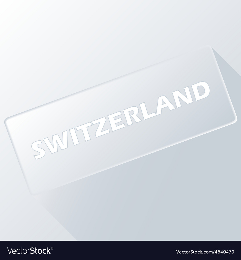 Switzerland unique button vector | Price: 1 Credit (USD $1)