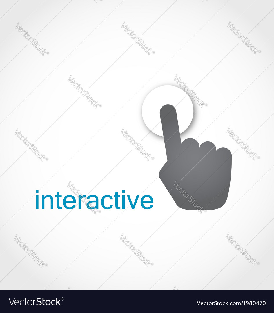 Touch screen icon vector | Price: 1 Credit (USD $1)