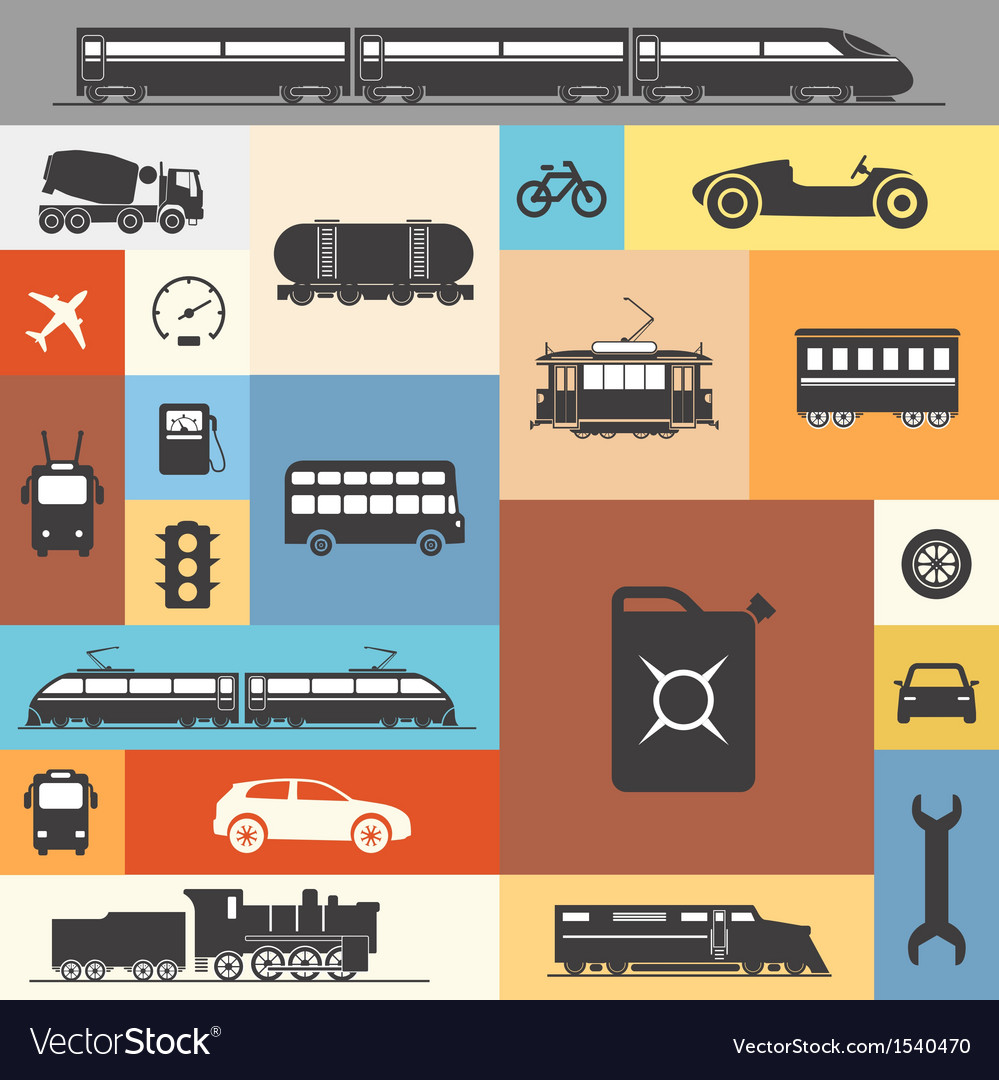 Vintage and modern vehicle silhouettes vector | Price: 1 Credit (USD $1)