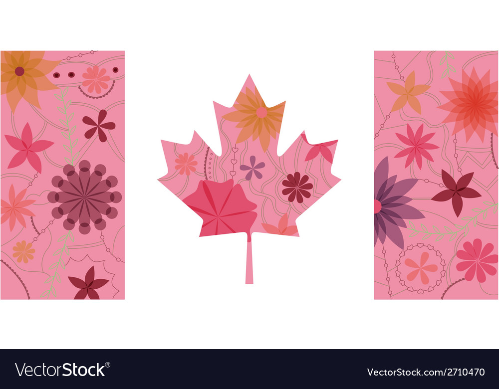 Vintage canada flag vector | Price: 1 Credit (USD $1)