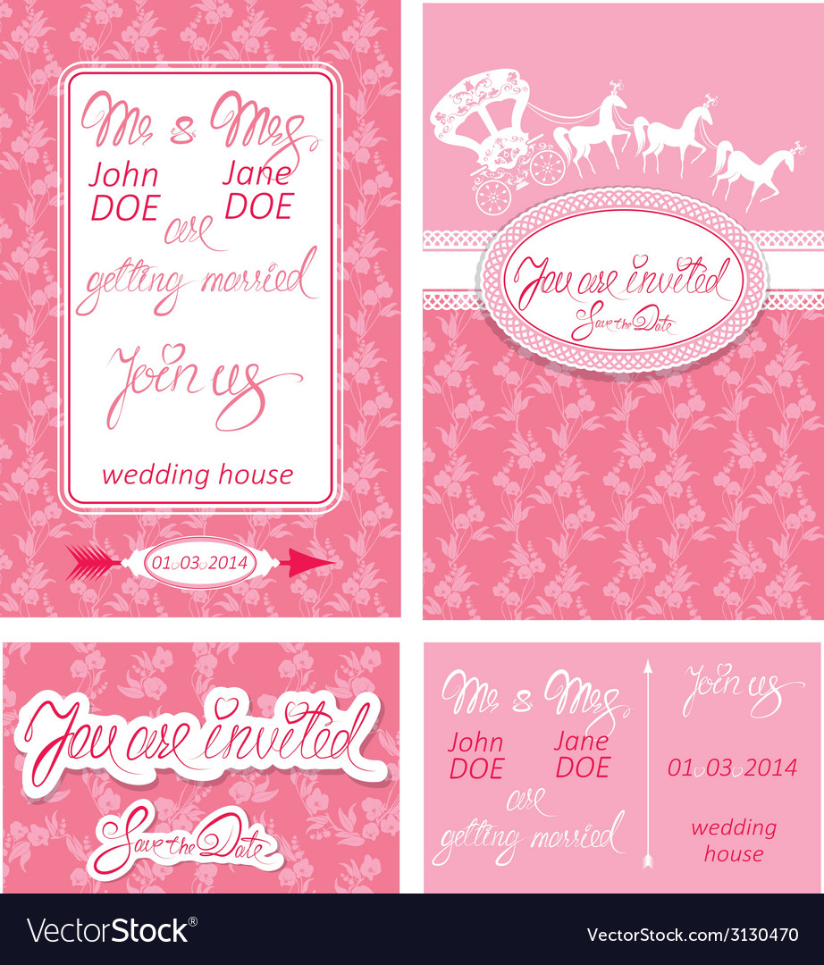 Wed invitation 1 380 vector | Price: 1 Credit (USD $1)